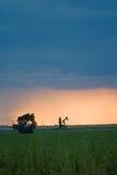 västra oljepump Fotografering för Bildbyråer