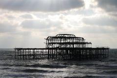Västra pir i Brighton Arkivbild