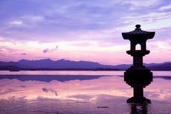 västra porslinhangzhou lake Royaltyfria Bilder