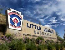 Västra regionalt välkommet tecken för barnserien i baseboll Arkivfoton