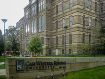 Västra reservuniversitet för fall i Cleveland fotografering för bildbyråer