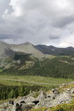 västra sayan dal för berg Arkivfoto