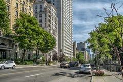 Västra Sherbrooke gata arkivbild