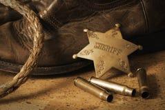 västra sheriff royaltyfri foto