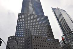 Västra skyskrapa för St Manhattan från New York City i Förenta staterna Arkivbild