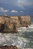 Västra slut av Europa, Ponta de Sagres, Portugal Royaltyfri Bild