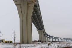 Västra snabb diameter i vinter petersburg saint Ryssland, fotografering för bildbyråer