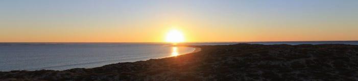 Västra solnedgång Fotografering för Bildbyråer