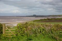 Västra Somerset Coast Path nära Hinkley punkt Somerset Arkivbild