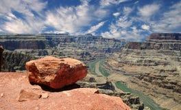 västra storslagen kant för kanjon Arkivfoto
