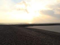 Västra strand, Littlehampton Arkivbild