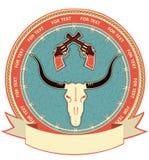 Västra symbolbakgrund Royaltyfri Foto