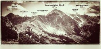 Västra Tatras berg, sikt från Ornak Arkivbild