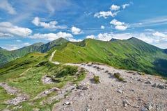 Västra Tatras bergslinga Royaltyfria Bilder