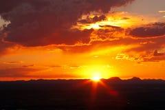 Västra Texas Sunset-1 Royaltyfri Fotografi