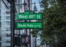 Västra 40th St, Manhattan, New York, USA arkivbilder