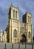 Västra torn av Bristol Cathedral Arkivfoton