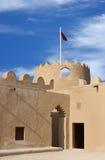 västra torn för riffa för bahrain flaggafort Royaltyfria Foton