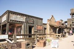 västra town arkivfoto