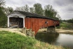Västra union täckt bro i indiana Royaltyfria Foton