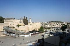 Västra vägg för gammal stad av Jerusalem, Israel royaltyfri foto