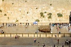 Västra vägg i Jerusalem Fotografering för Bildbyråer