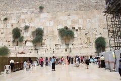 Västra vägg, Jerusalem, Israel Royaltyfria Bilder