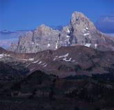 Västra vända mot av den storslagna Tetonen från toppmötet av berget för Fred ` s, Wyoming Fotografering för Bildbyråer
