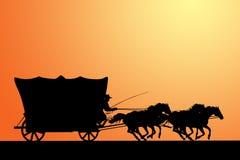 västra vagn Arkivbilder