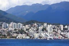 Västra Vancouver horisont Arkivbilder