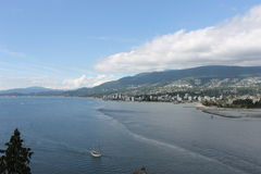 Västra Vancouver Kanada engelskafjärd Arkivbild