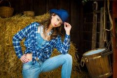 västra wild för flicka Royaltyfri Fotografi