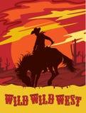 västra wild för illustrationvektor Vektor Illustrationer