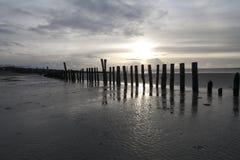 Västra Wittering solnedgång royaltyfri fotografi