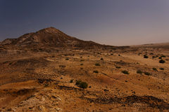 Västsahara lanscape på natten Arkivbild