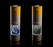 väten lr6 för bränsle för aa-battericell Arkivbild
