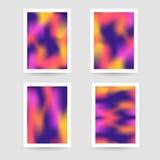Vätska färgar bakgrund, suddig bakgrund, ställde in affischer Royaltyfria Foton