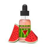 Vätska för E-cigarett Vape också vektor för coreldrawillustration Royaltyfri Bild