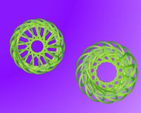 Vätskeabstrakta geometriska former för vektorvätskelutning royaltyfri illustrationer
