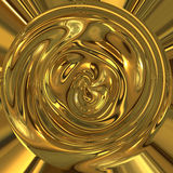 vätskekruka för abstrakt guld Royaltyfri Fotografi