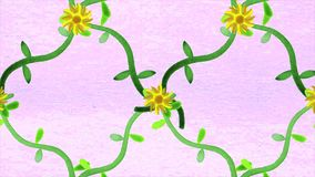 Vätskemålning animerade sömlösa rörelsediagram som var visuella för video Bakgrund av flyttningen blommar på mjuk pastellfärgad f vektor illustrationer