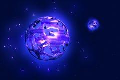 Vätskeplanet i avstånd stock illustrationer