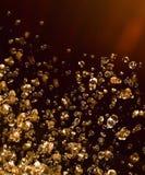 vätskeskina för gul droppe Royaltyfri Foto