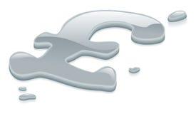 vätskesymbol för ett pund sterling för silver för metallpundtecken royaltyfri illustrationer