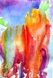 Vätskevattenfärgbakgrund för abstrakt illustration Royaltyfri Foto