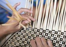 väva för bambu Arkivbild