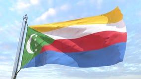 Väva flaggan av landet Comoros royaltyfri illustrationer