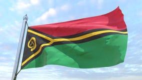 Väva flaggan av landet Vanuatu royaltyfri foto