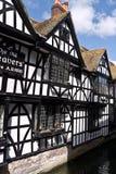 Vävarestugorna i Canterbury Kent Arkivfoto