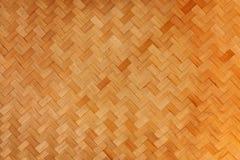 Vävbambubakgrund Royaltyfri Bild